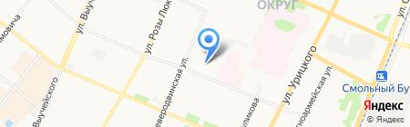 Алые паруса на карте Архангельска