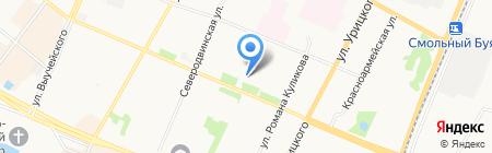 Сервис центр на проспекте Ломоносова на карте Архангельска