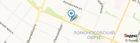 Магазин по продаже овощей и фруктов на Обводном канале на карте Архангельска