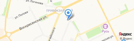 Мастерская по изготовлению ключей и ремонту обуви на ул. Шабалина на карте Архангельска