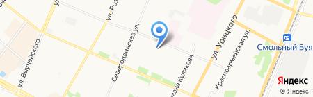 Архангельский медицинский колледж на карте Архангельска