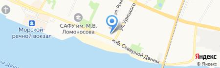 Чайка на карте Архангельска