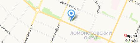 Массажный кабинет на Обводном канале на карте Архангельска