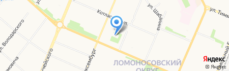 Единый лесопожарный центр Архангельской области на карте Архангельска