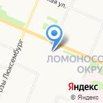 Пироговая на карте Архангельска