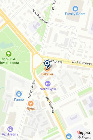 Лекс на карте Архангельска