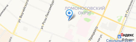 Детский сад №118 Калинушка на карте Архангельска