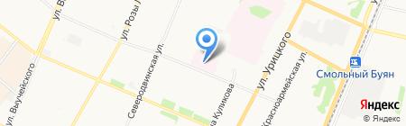 Архангельский клинический противотуберкулезный диспансер на карте Архангельска