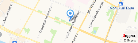 Совет ветеранов войны и труда Ломоносовского округа на карте Архангельска