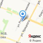 Мировые судьи Приморского района на карте Архангельска