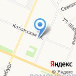 Северина на карте Архангельска