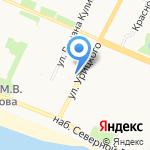 Парус на карте Архангельска