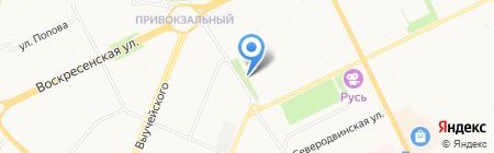 Марлен на карте Архангельска