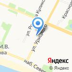 Цветочный магазин на карте Архангельска