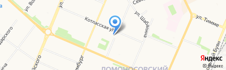 Закусочная на карте Архангельска