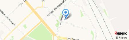 Норгау Руссланд на карте Архангельска