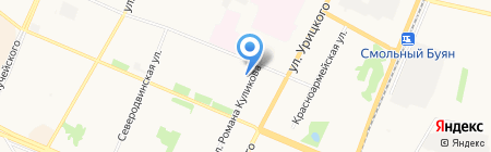 Ломоносовский районный суд на карте Архангельска