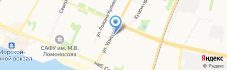 Автошкола 29 на карте Архангельска