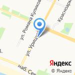 Альпина на карте Архангельска