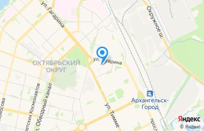 Местоположение на карте пункта техосмотра по адресу г Архангельск, ул Гагарина, д 44
