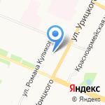 Земляничка на карте Архангельска