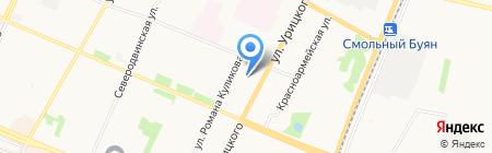 Детский сад №20 на карте Архангельска