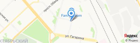 Чудославские на карте Архангельска