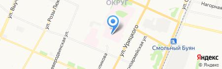 Областная детская клиническая больница им. П.Г. Выжлецова на карте Архангельска