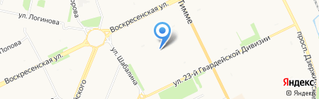 Средняя общеобразовательная школа №17 на карте Архангельска