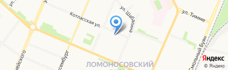 Автоспас-связь на карте Архангельска