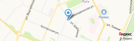 Гулливер на карте Архангельска