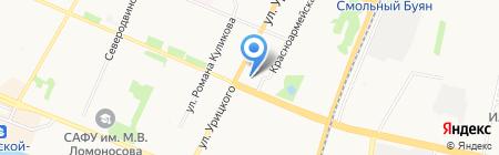 Золушка на карте Архангельска