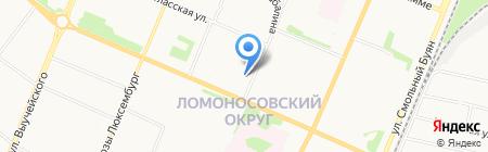 Палема на карте Архангельска