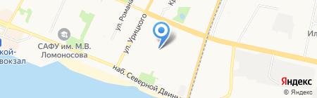 Джулия на карте Архангельска