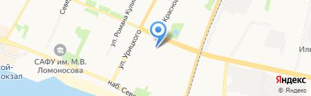 Ленкорань на карте Архангельска