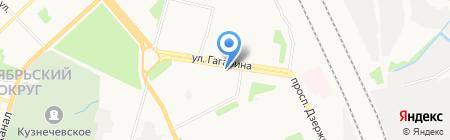 Лазурит на карте Архангельска