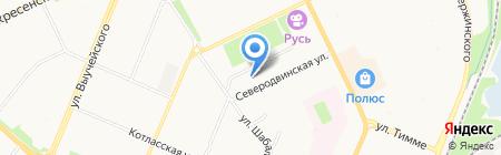 Русская баня на карте Архангельска