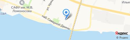 Столовая на Набережной Северной Двины на карте Архангельска