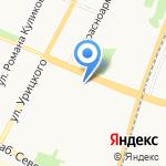 Двинские Зори на карте Архангельска