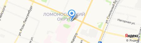 Росгосстрах-Архангельск-Медицина на карте Архангельска