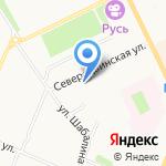АНЕСТА на карте Архангельска