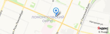 Банкомат Банк Уралсиб на карте Архангельска