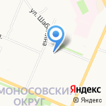 Межпоселенческое объединение культуры Приморского района на карте Архангельска
