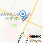 Милан на карте Архангельска