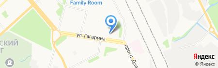 Гагаринский на карте Архангельска