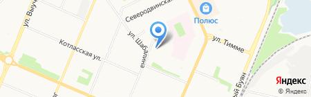 Баня на дровах на карте Архангельска