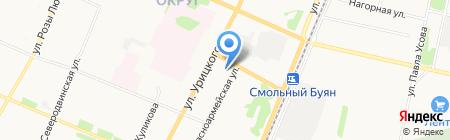 Теплый дом групп на карте Архангельска