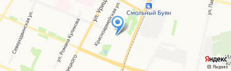 Лоток фастфуда на карте Архангельска
