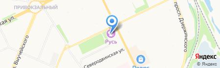 Русь на карте Архангельска