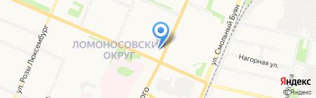 Спайдер на карте Архангельска